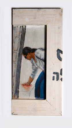 Untitled - 2009 - acrylic and pastel on wood - 18X37cm (2)