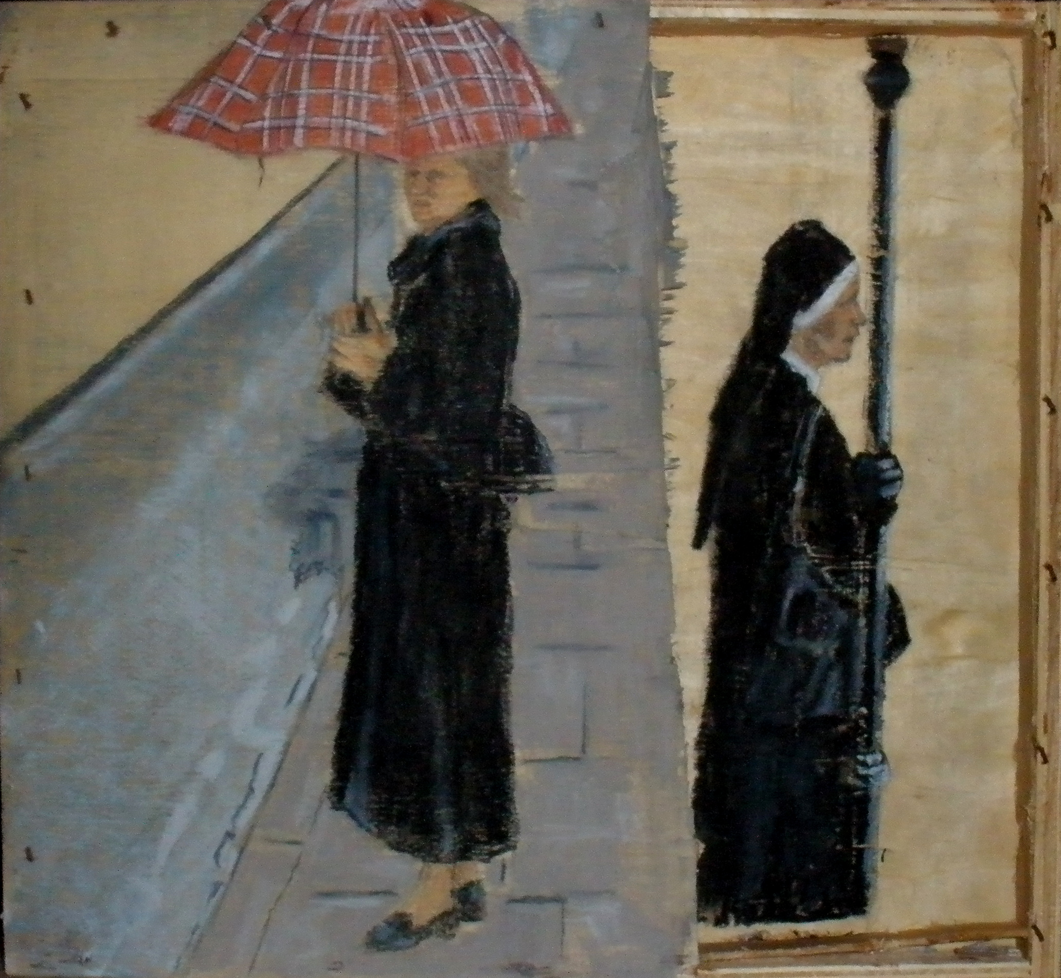 Waiting - 2011 - Pastel on wood - 29X32cm