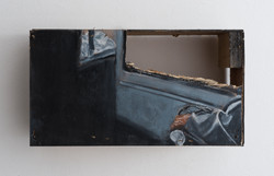 Traveling - 2011 - acrylic and pastel on wood - 29X16X9cm