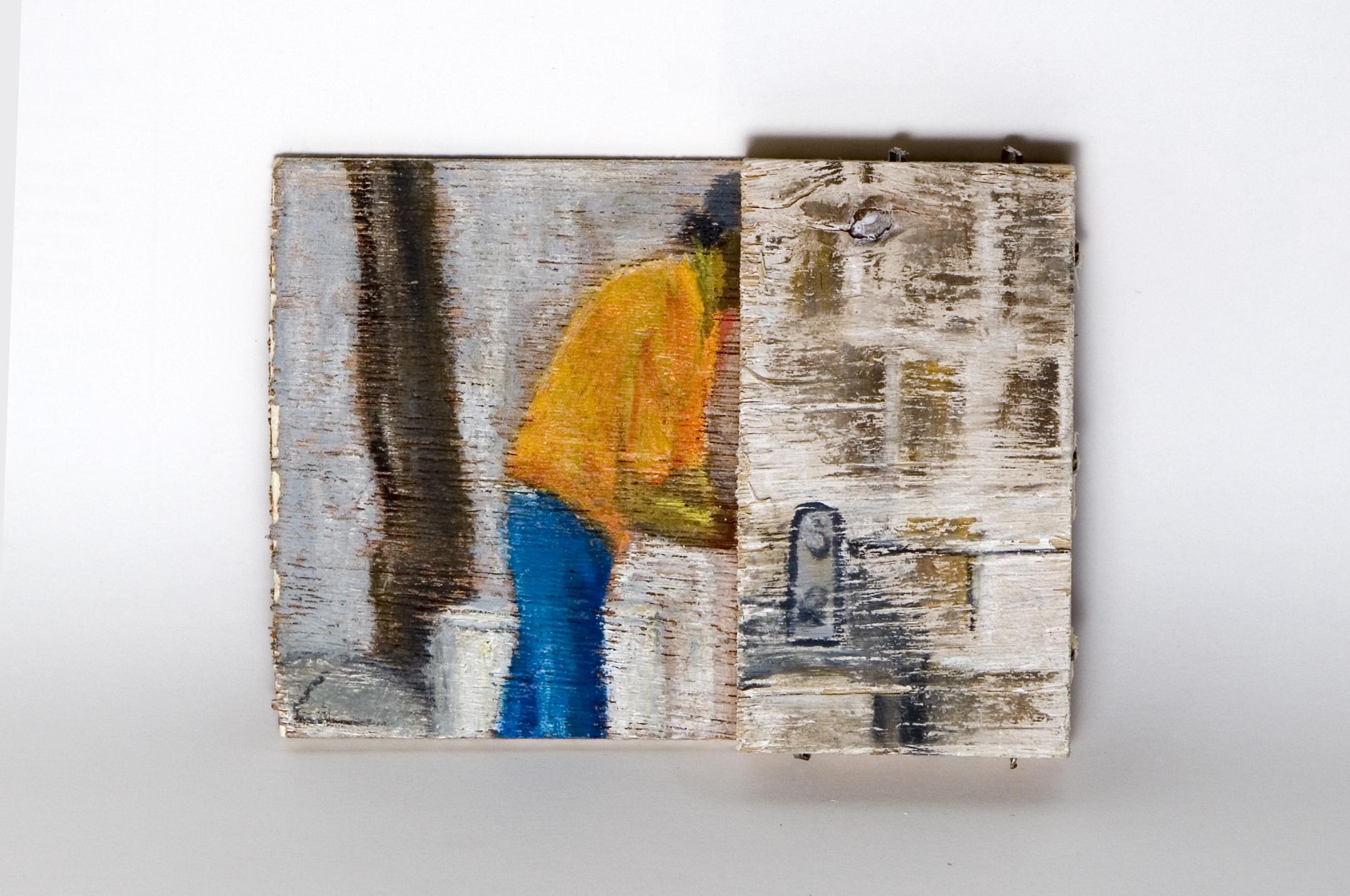 Untitled - 2009 - acrylic and pastel on wood - 16X8cm