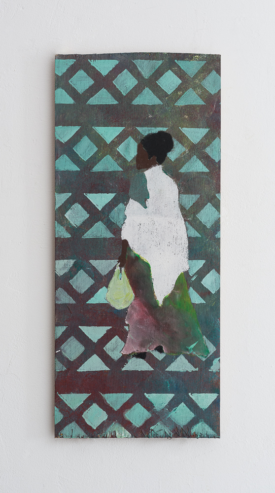 Untitled - 2014 - acrylic on wood - 16X37.5cm