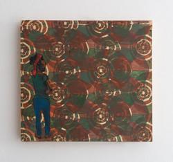 Looking Back - 2014 - acrylic on wood - 32X29cm