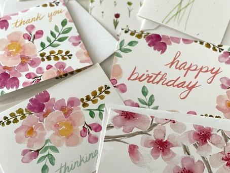 Add a Handwritten Card To Your Flower Arrangement
