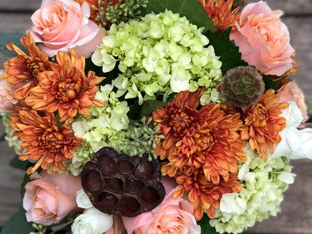 Fall arrangements and a new vase!