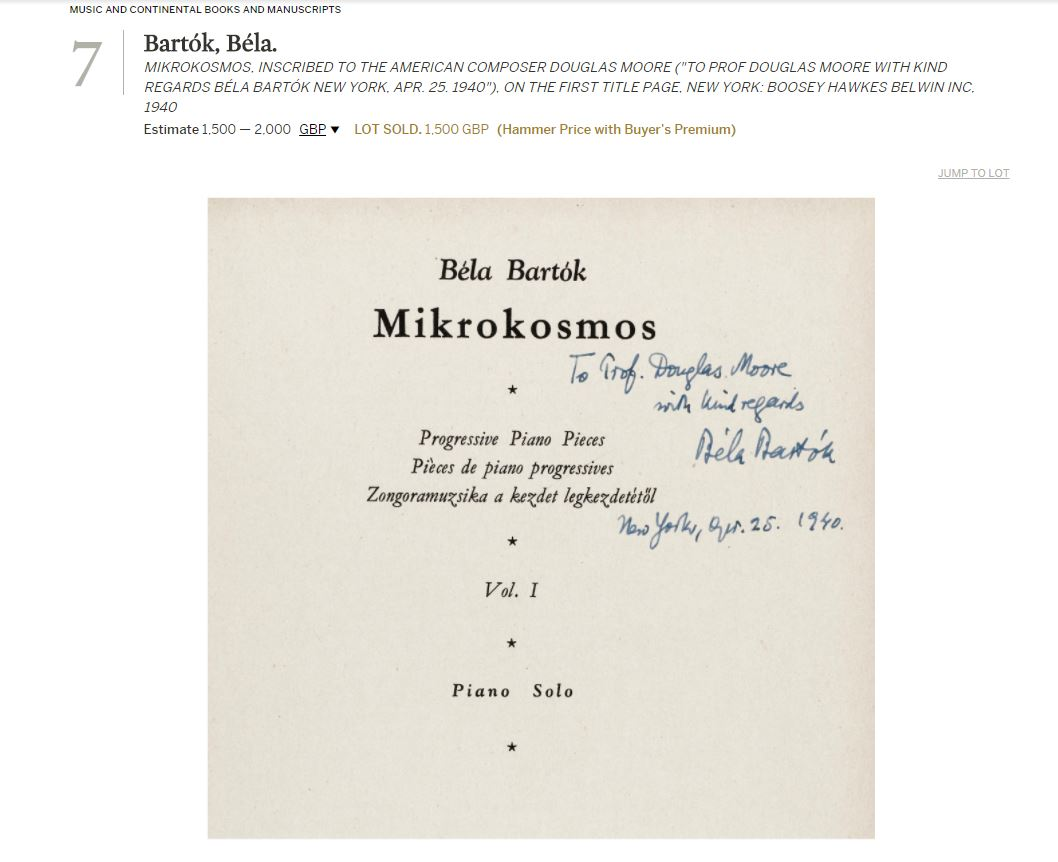 Bartok Book