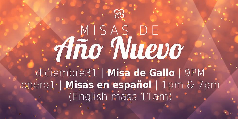 Misa de Gallo y Misas de Año Nuevo