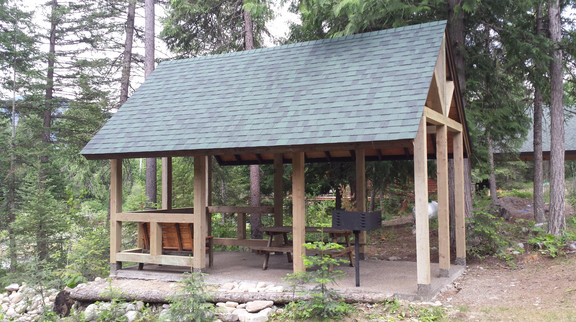 The large shelter at Cedar Grove Camp