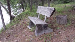 Another View of the rustic bench