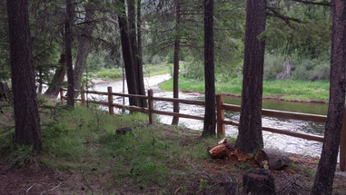 View of the Moyie River from the River Cabin