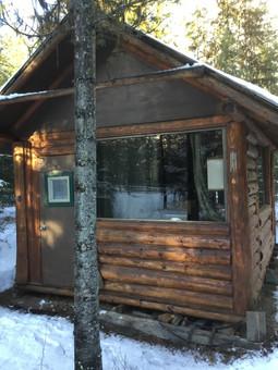 River Cabin in Winter