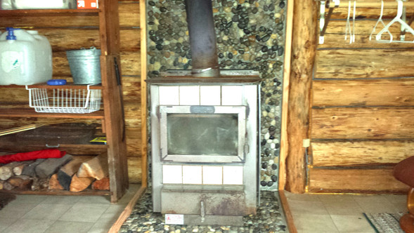 Wood Stove at the River Cabin