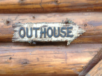 Every good camp site needs a good outhouse!