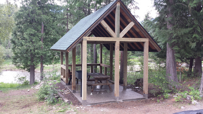 Another view of the shelter at Cedar Grove Camp