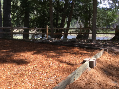 Cedar Grove Tent Pad with river view