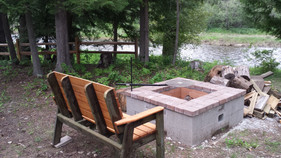 A view from the fire pit at Cedar Grove Camp