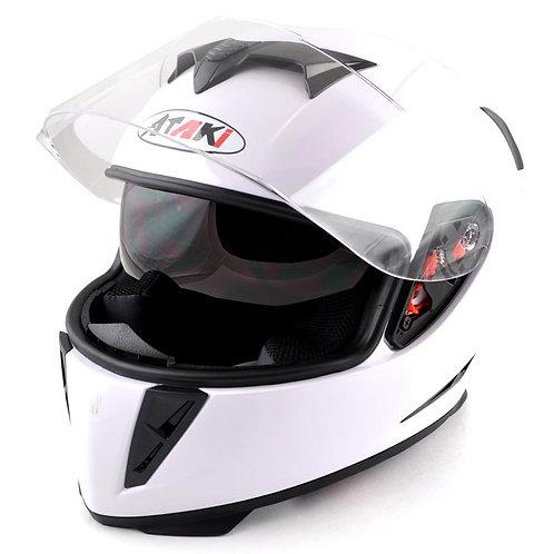 Шлем Ataki FF311 Solid белый глянцевый
