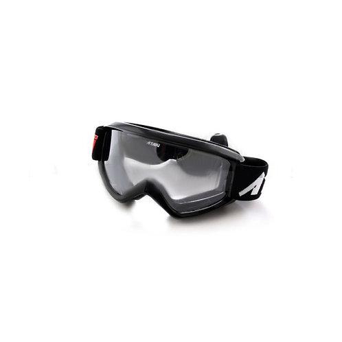 Очки для мотокросса детские ATAKI HB-115 (черные глянцевые)