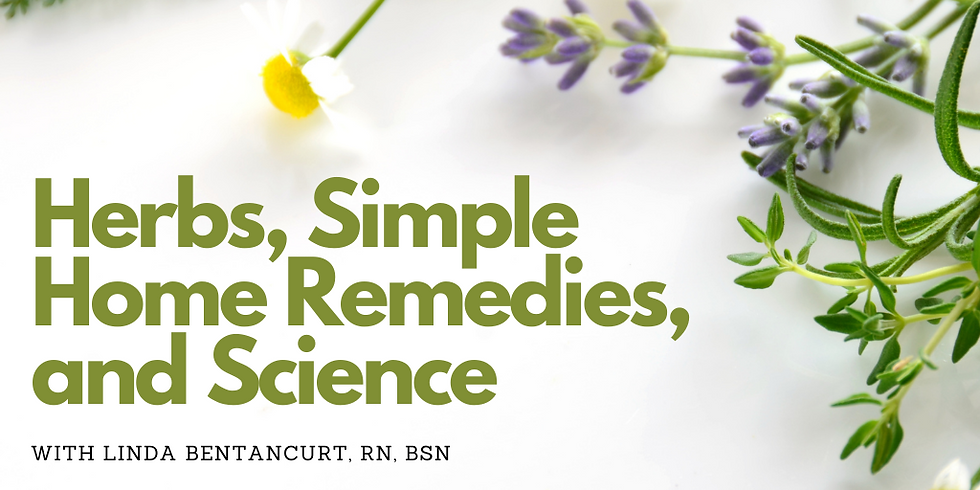 Women's Ministries: Herbs, Home Remedies, and Science