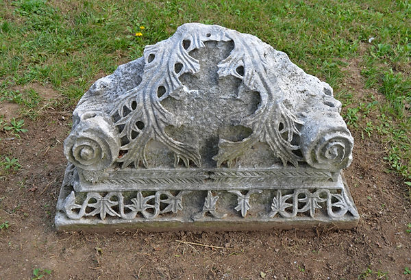 Capital in the Garden of Fethiye Mosque.