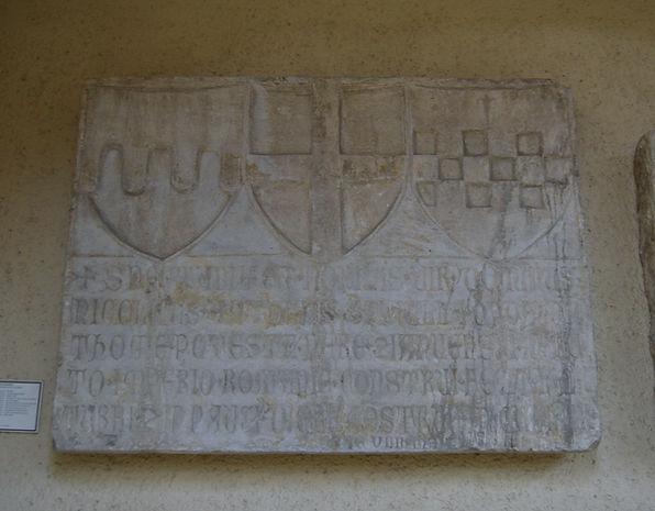 Genoese slab with Fregoso, Genoese, and