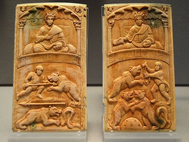 Ivory diptych with Circus Games (c. 400)