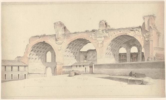 """The Basilica of Maxentius and Constanti"