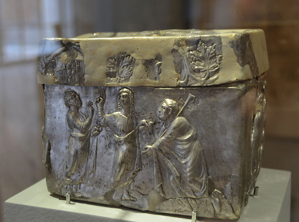 Silver reliquary with scenes from the Ol