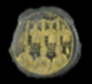 Gold-glass medallion