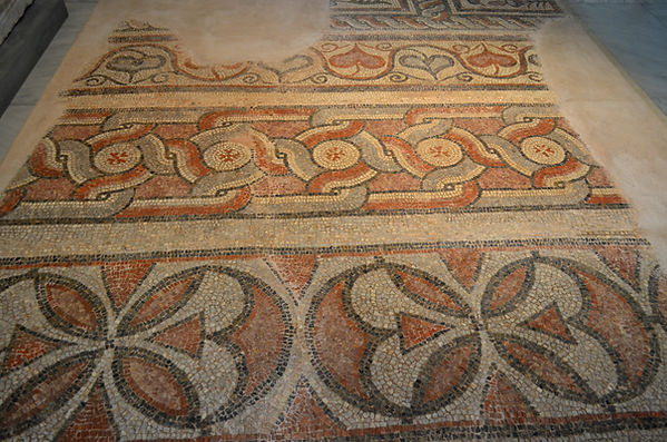 Mosaic floor from the basilica north of