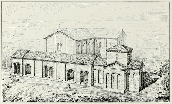 Reconstruction Santa Croce with Mausoleu
