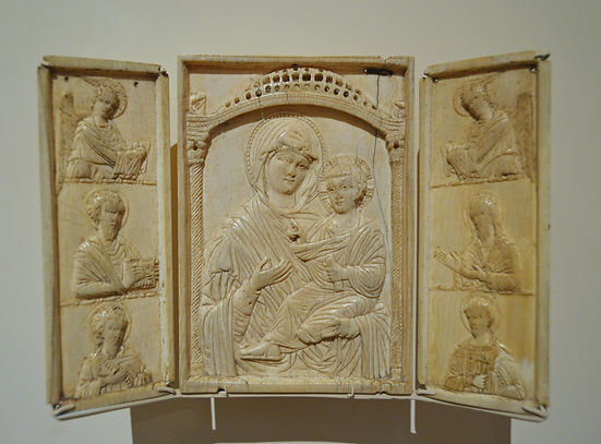 Triptych with the Virgin Hodegetria and