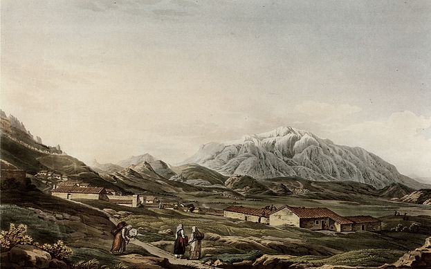 Mount Olympus seen from Larissa by Dodwe