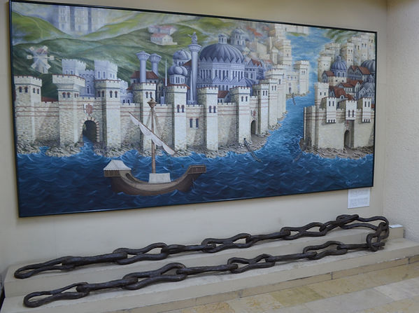 Chain of the Golden Horn at Istanbul Arc