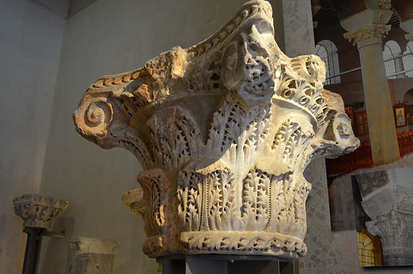 Theodosian Capital from the atrium of Ac