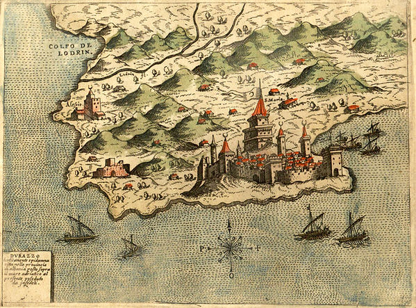 Depiction of Durazzo by Pinargenti (1573