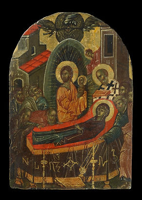 Icon with the Koimesis