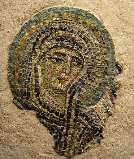 Fragment of a Mosaic with the Virgin fro