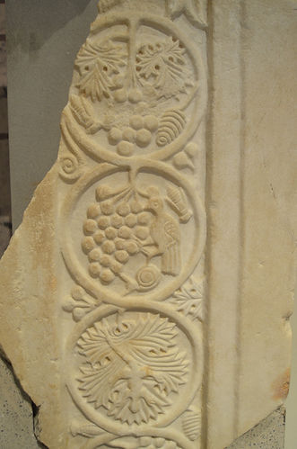 Relief slabs with vegetal and zoomorphic