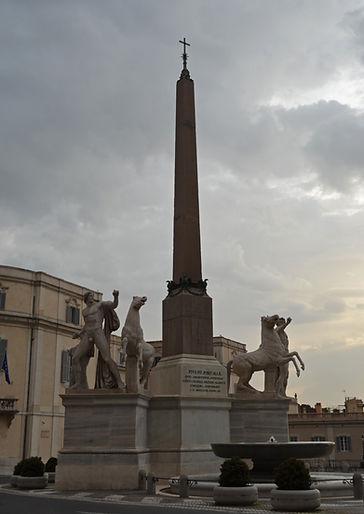 Quirinale Obelisk and the Quirinal Diosc
