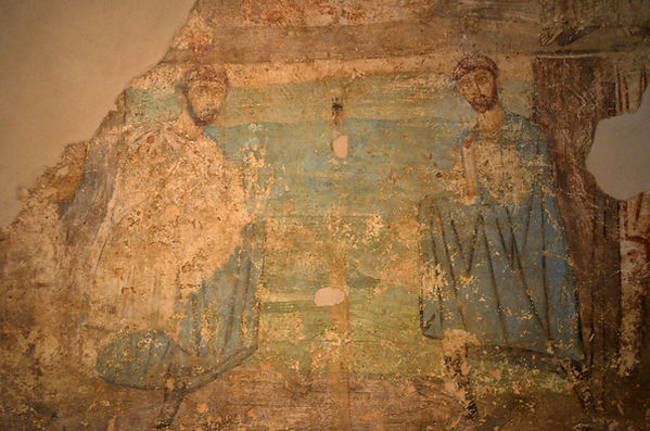 Wall painting of St. Cosmas and St. Dami