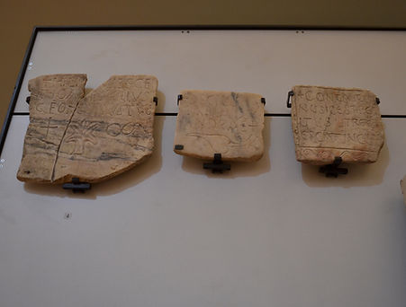 Tombstones with Latin epitaphs (5th-6th