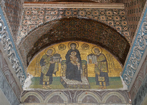 Constantine and Justinian with the Theot