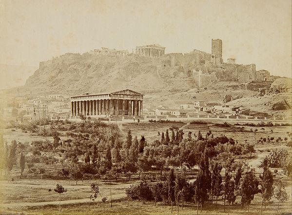 Moraites_Petros_-_View_of_the_Theseion_w