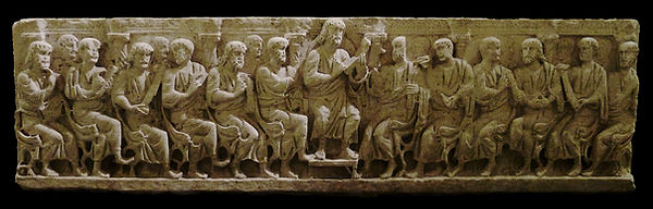Sarcophagus with Christ teaching