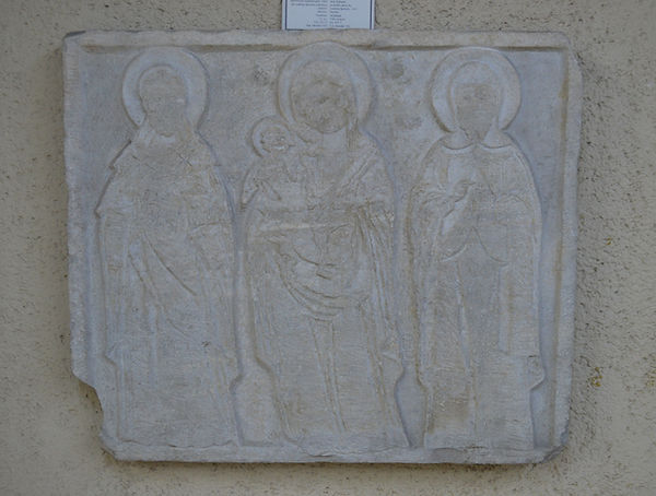 Genoese Slab with the Virgin Mary and th