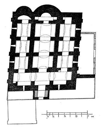 Reconstructed plan of Taxiarchs from Xyn