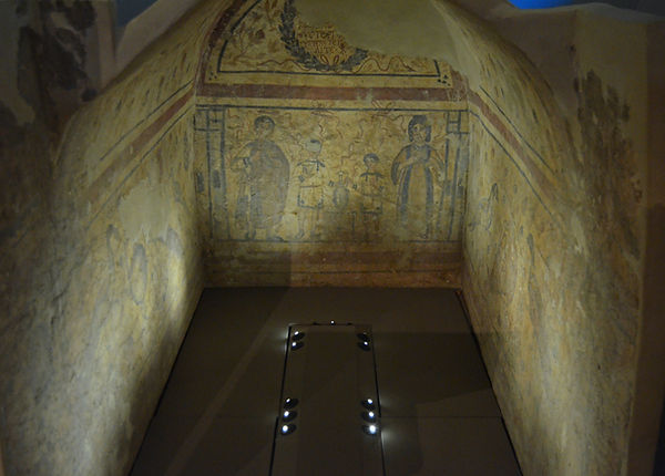 Barrel vaulted tomb of Eustorgios (4th c