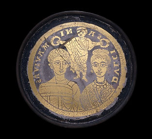 Gold-glass medallion