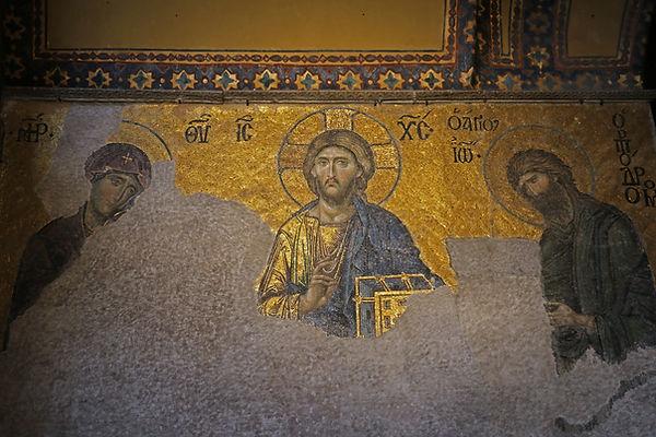 Deesis Mosaic at Hagia Sophia.jpg