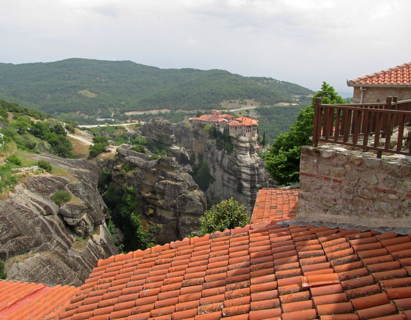 View of the Monastery of Varlaam from th